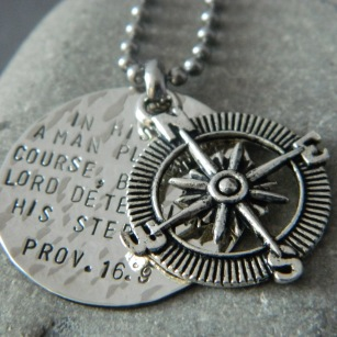 in his heart silver compass